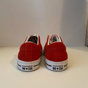 Converse Shoes - Converse One Star OX Red Suede White Chuck Taylor